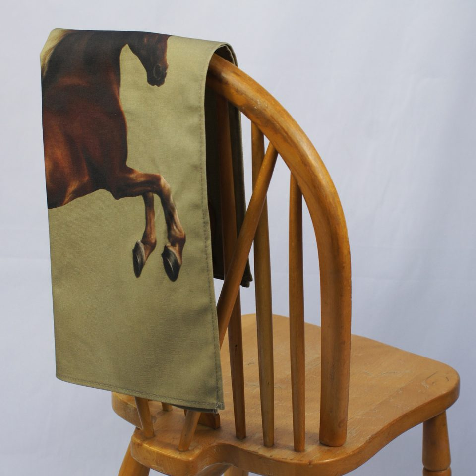 NATIONAL GALLERY WHISTLEJACKET GEORGE STUBBS TEA TOWEL ON CHAIR