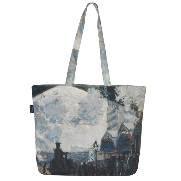The Gare St-Lazare by Claude Monet Tote Bag