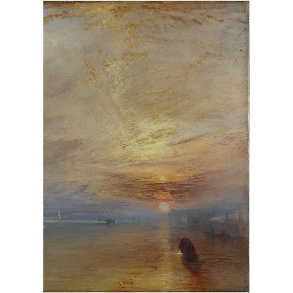 The Fighting Temeraire by Joseph Mallord William Turner (Crop) Tea Towel