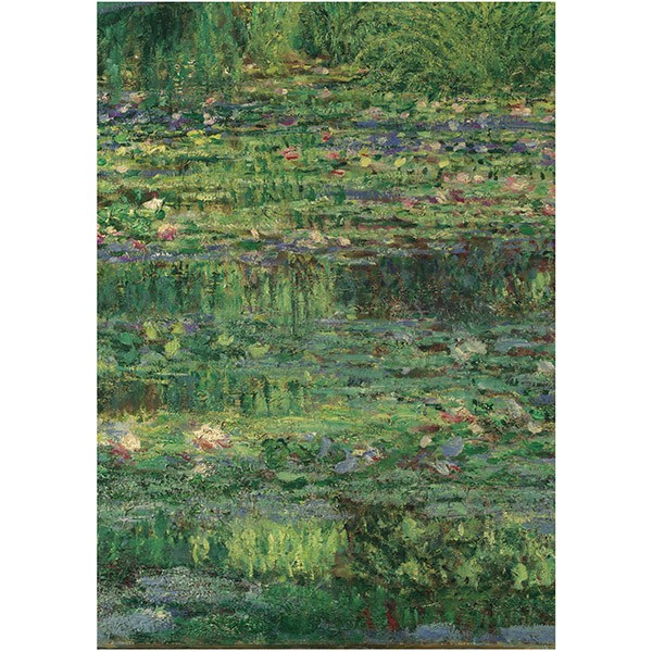 The Water-Lily Pond by Claude Monet (Crop) Tea Towel