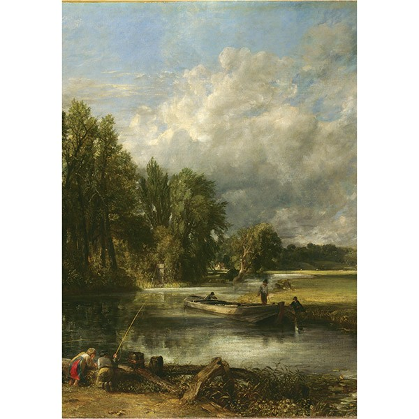 Stratford Mill by John Constable Tea Towel