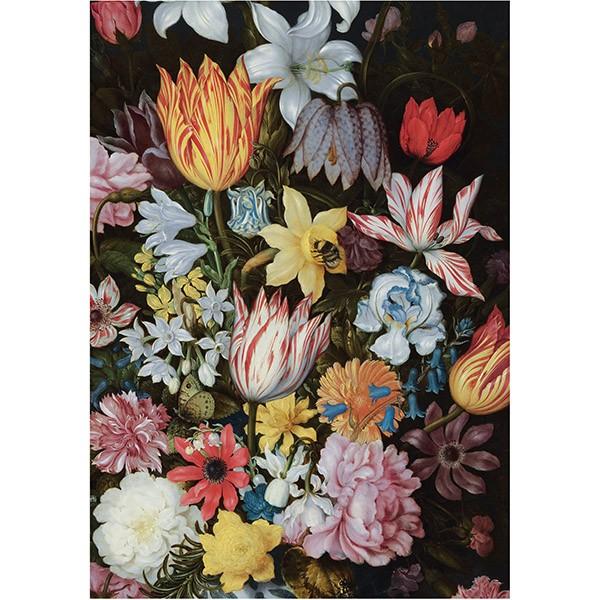 A Still Life of Flowers in a Wan-Li Vase by Ambrosius Bosschaert the Elder (Crop) Tea Towel