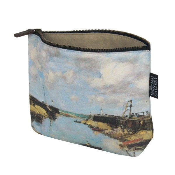 The Entrance to Trouville Harbour by Eugène Boudin Cosmetic Bag