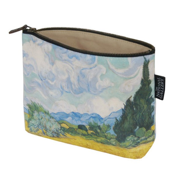 A Wheatfield, with Cypresses by Vincent van Gogh Cosmetic Bag