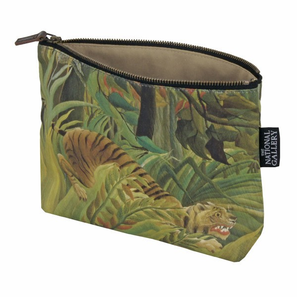 Surprised! by Henri Rousseau Cosmetic Bag