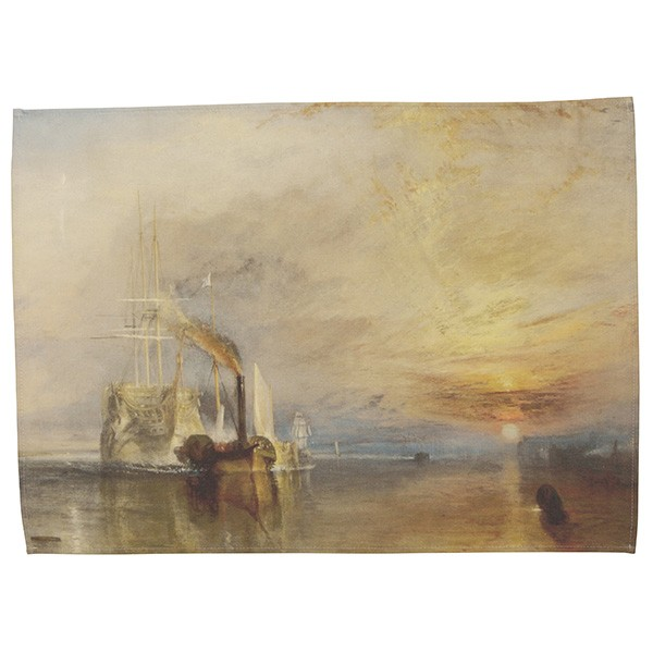 The Fighting Temeraire by Joseph Mallord William Turner Tea Towel