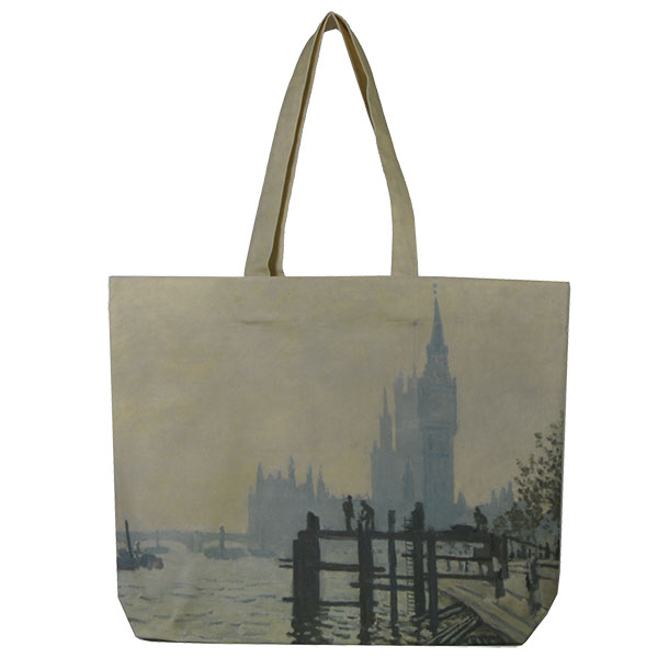 The Thames below Westminster by Claude Monet Tote Bag