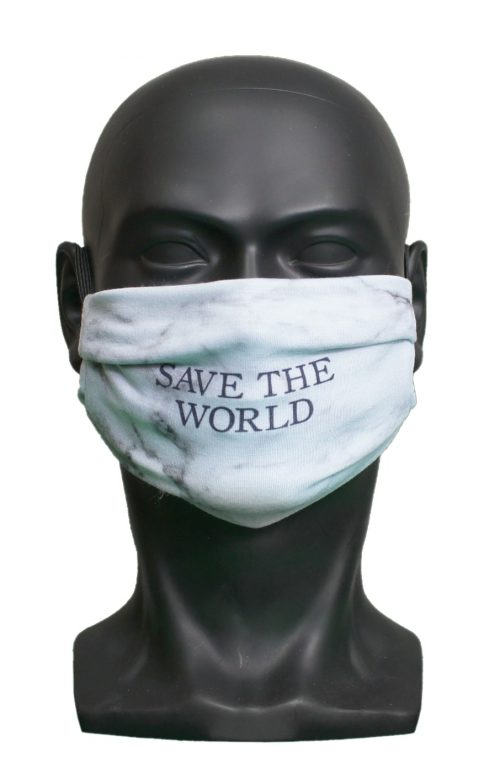 Save The World Marble UK Made Facemask