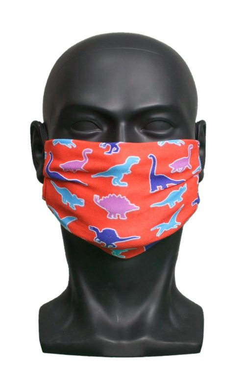 Dinos kids Childrens Face Mask Blank for Print on Demand