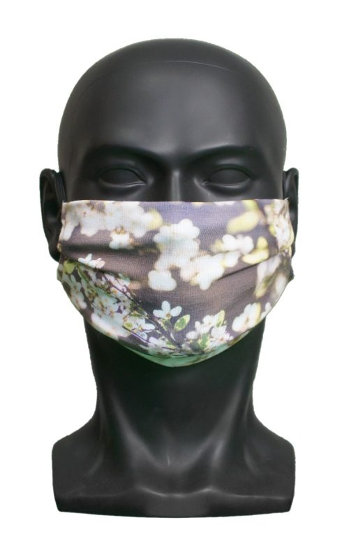 White Flowers UK Made Facemask