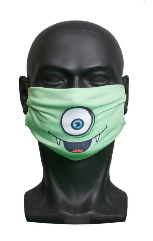 One Eye kids Childrens Face Mask Blank for Print on Demand