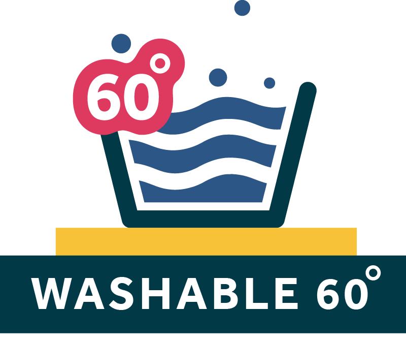Washable at 60 Degrees