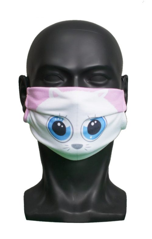 Cute Cat kids Childrens Face Mask Blank for Print on Demand