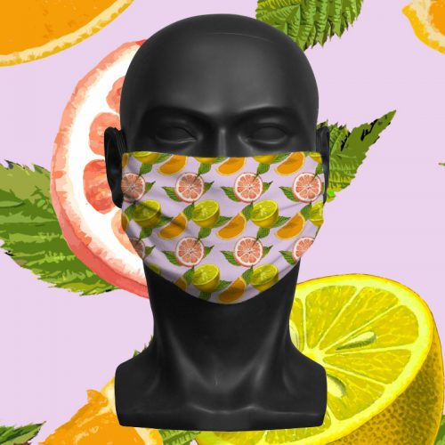 Citrus – ViralOff® Adult Face Mask. One Size, adjustable with ComfyClip accessory