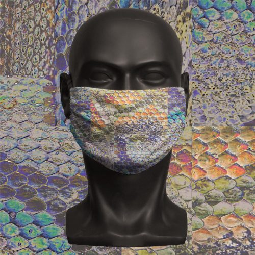 Snake Print – ViralOff® Adult Face Mask. One Size, adjustable with ComfyClip accessory