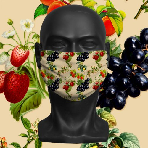 Fruit Bowl – ViralOff® Adult Face Mask. One Size, adjustable with ComfyClip accessory