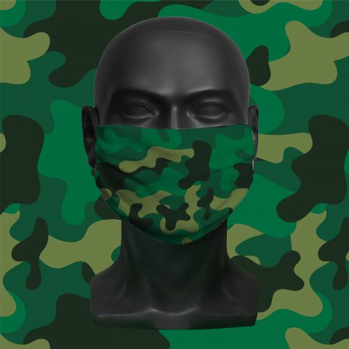 Camo Print – ViralOff® Childrens Face Mask. One size fits all adjustable with Comfy Clip accessory