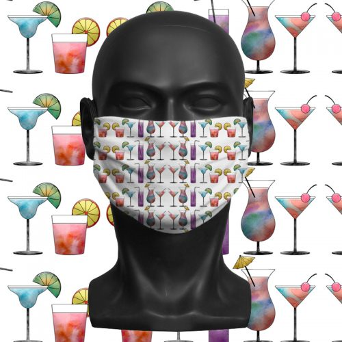 Cocktail- ViralOff® Adult Face Mask. One Size, adjustable with ComfyClip accessory