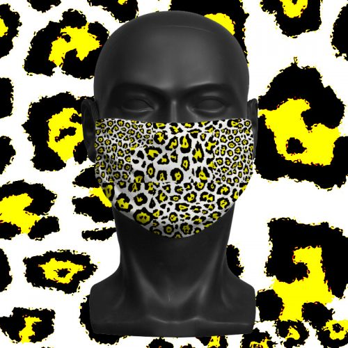 Light Leopard Geo – ViralOff® Adult Face Mask. One Size, adjustable with ComfyClip accessory