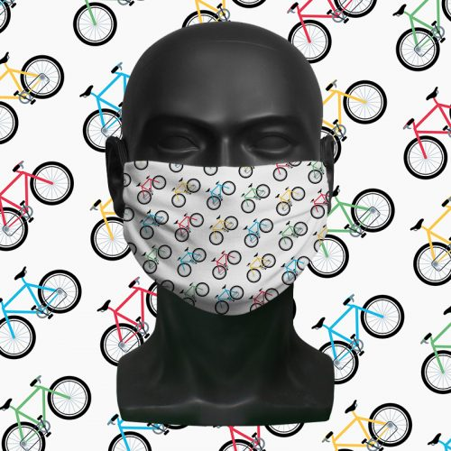 Multi Bikes – ViralOff® Childrens Face Mask. One size fits all adjustable with Comfy Clip accessory