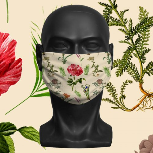 Botanical – ViralOff® Adult Face Mask. One Size, adjustable with ComfyClip accessory