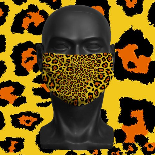 LEOPARD PRINT GEO – ViralOff® Adult Face Mask. One Size, adjustable with ComfyClip accessory