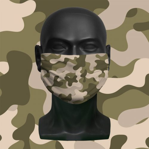 Desert Camo – ViralOff® Childrens Face Mask. One size fits all adjustable with Comfy Clip accessory