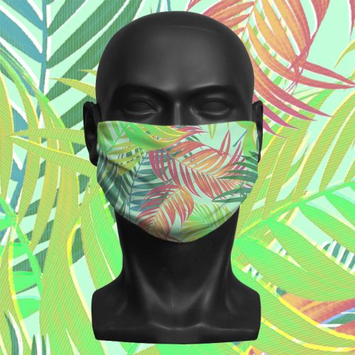 Tropical Multi – ViralOff® Adult Face Mask. One Size, adjustable with ComfyClip accessory