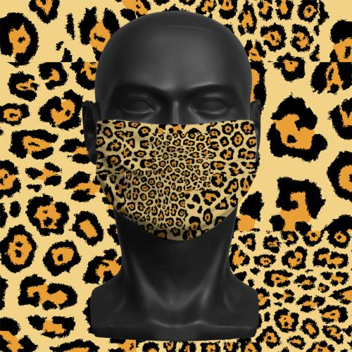 Safari Leopard Geo – ViralOff® Adult Face Mask. One Size, adjustable with ComfyClip accessory