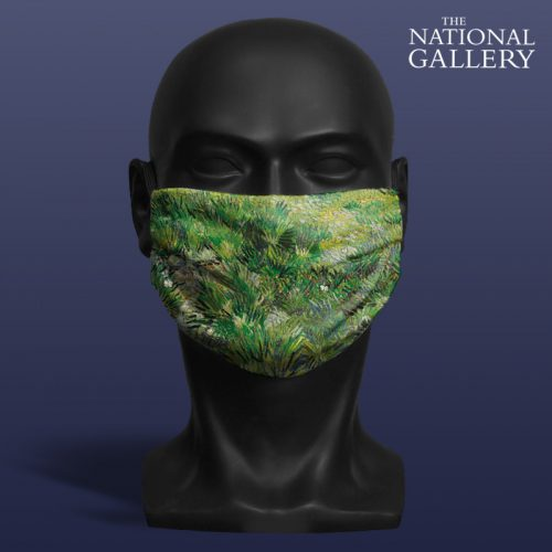 Vincent Van Gogh, Long Grass with Butterflies. National Gallery ViralOff® Adult Face Mask. One Size, adjustable with ComfyClip accessory