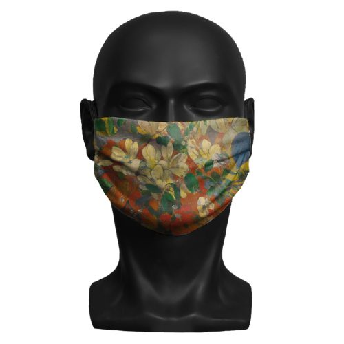Paul Gauguin, A Vase of Flowers. National Gallery ViralOff® Adult Face Mask. One Size, adjustable with ComfyClip accessory