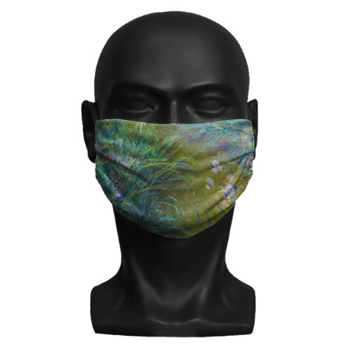Claude Monet, Irises. National Gallery ViralOff® Adult Face Mask. One Size, adjustable with ComfyClip accessory