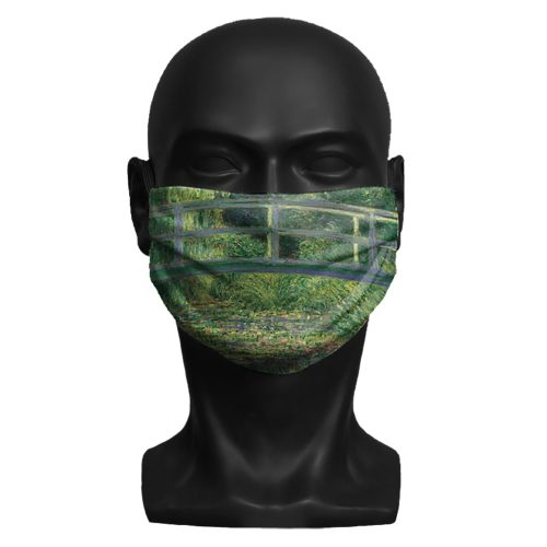 Claude Monet, The Water-Lily Pond. National Gallery ViralOff® Adult Face Mask. One Size, adjustable with ComfyClip accessory