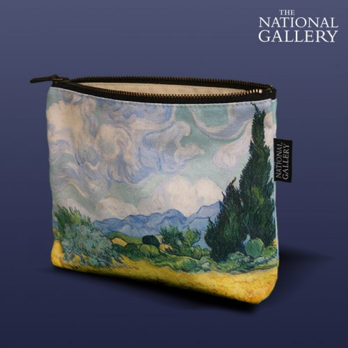 Vincent Van Gogh, Wheatfields. National Gallery Cosmetic Bag