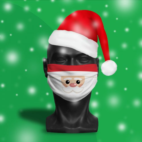 'Santa Face' ViralOff® Adult Face Festive Mask. One Size, adjustable with ComfyClip accessory