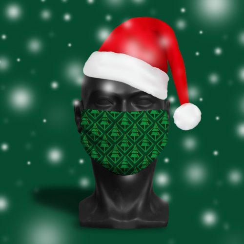 Christmas Trees Pattern – ViralOff® Adult Face Mask. One Size, adjustable with ComfyClip accessory