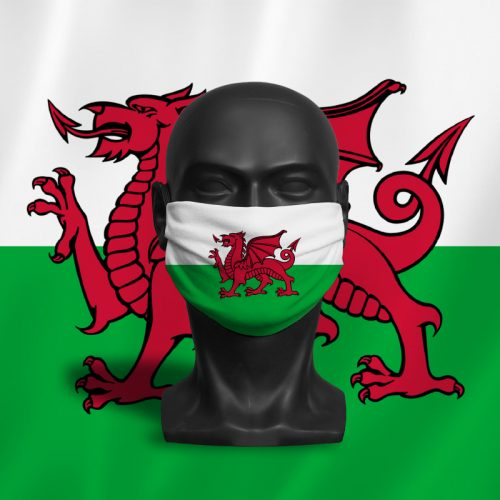 Welsh Flag – ViralOff® Adult Face Mask. One Size, adjustable with ComfyClip accessory