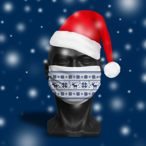 Christmas Spirit – ViralOff® Adult Festive Face Mask. One Size, adjustable with ComfyClip accessory