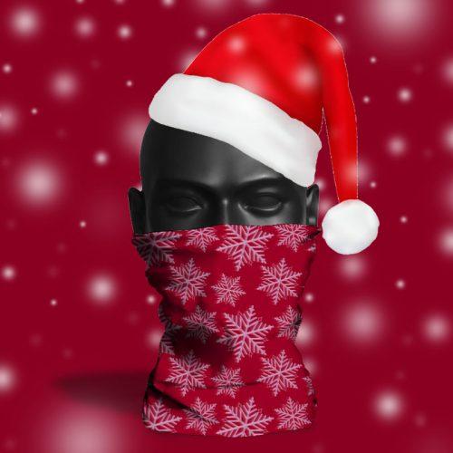 'Burgundy Snowflake' ViralOff® Adult Festive Snood