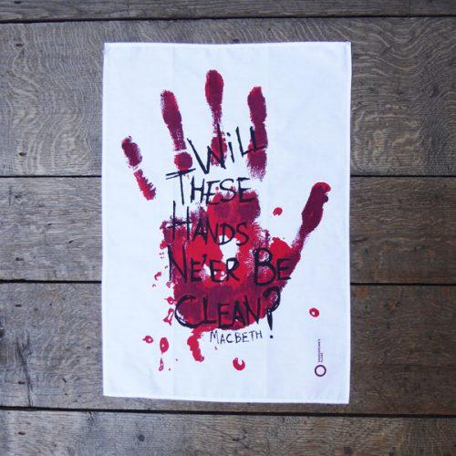 Shakespeare's Globe – Macbeth 'Hands' Tea Towel