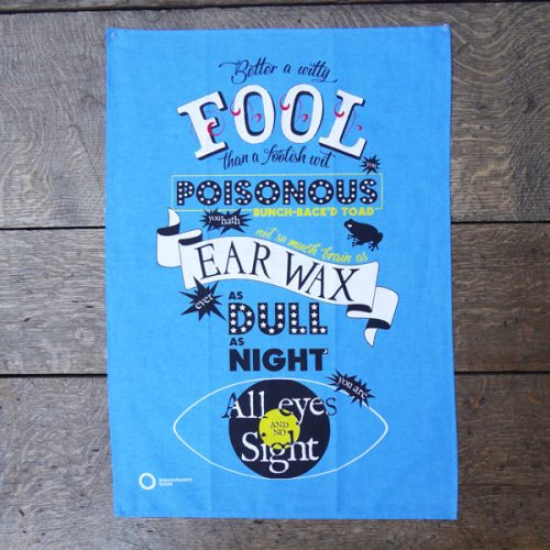 Shakespeare's Globe – Fool Tea Towel