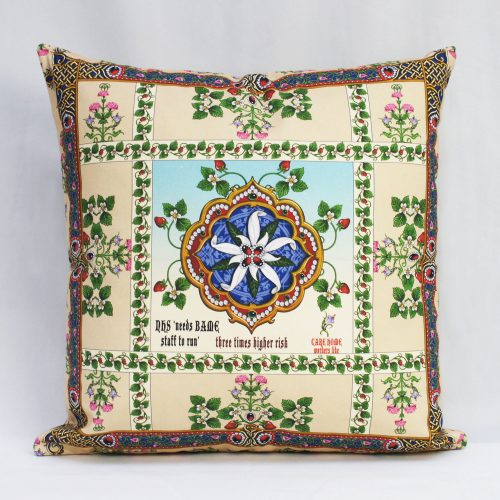 Singh Twins – Beige NHS v Covid 19 – Cushion Cover