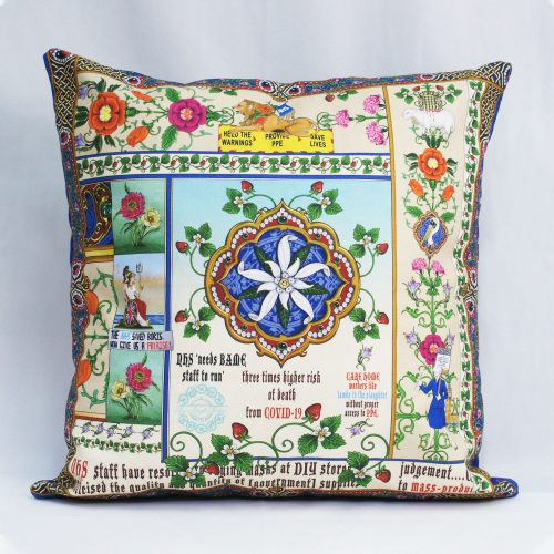Singh Twins – Blue NHS v Covid 19 – Cushion Cover