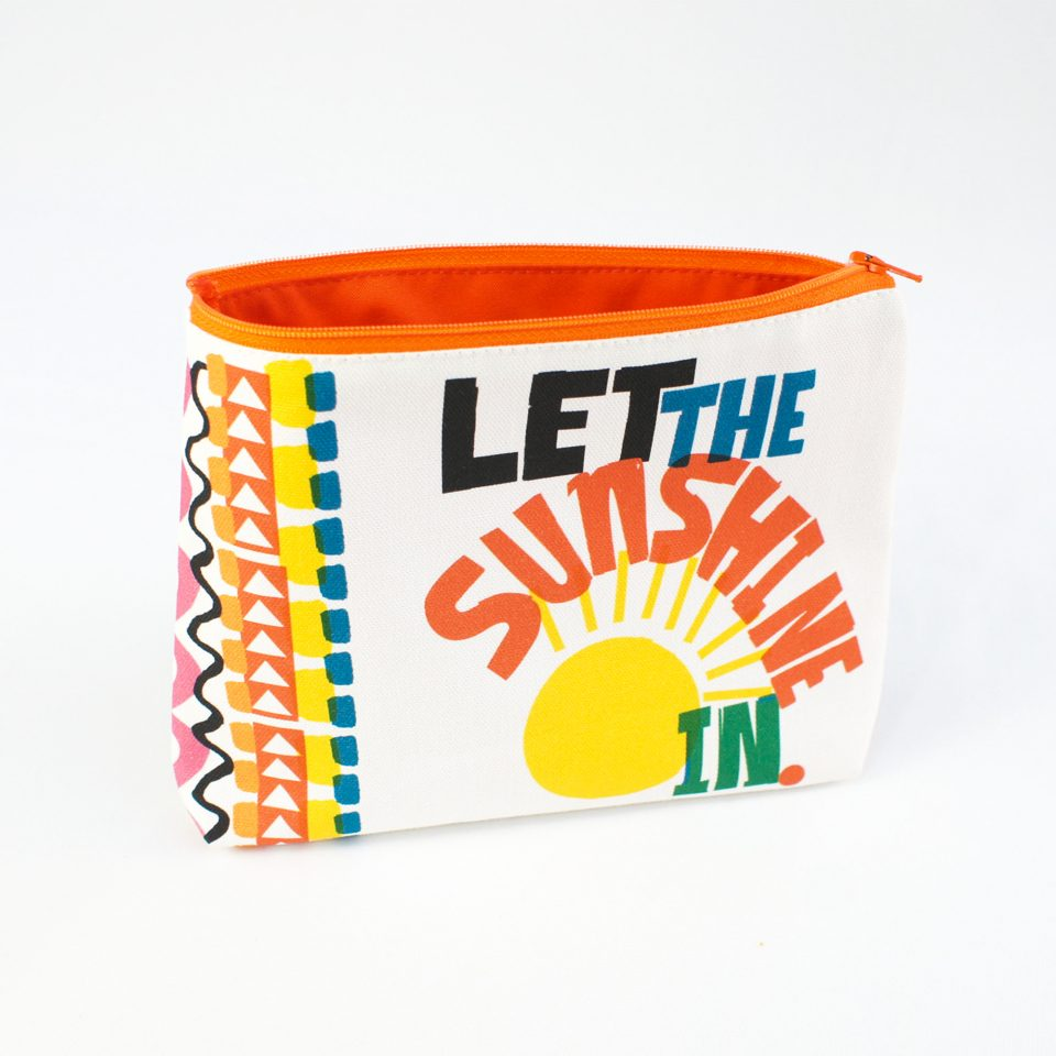 Let the Sun - RUDE DESIGNS Organic Cosmetic Bag Open