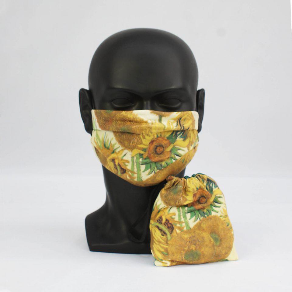 'Sunflowers' - Vincent van Gogh - National Gallery Face Mask and Bag Bundle