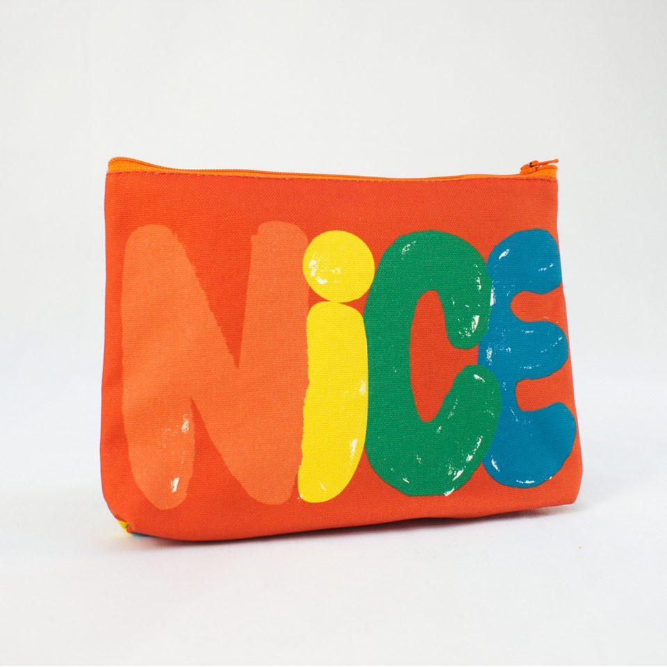 NICE - RUDE DESIGNS Organic Cosmetic Bag