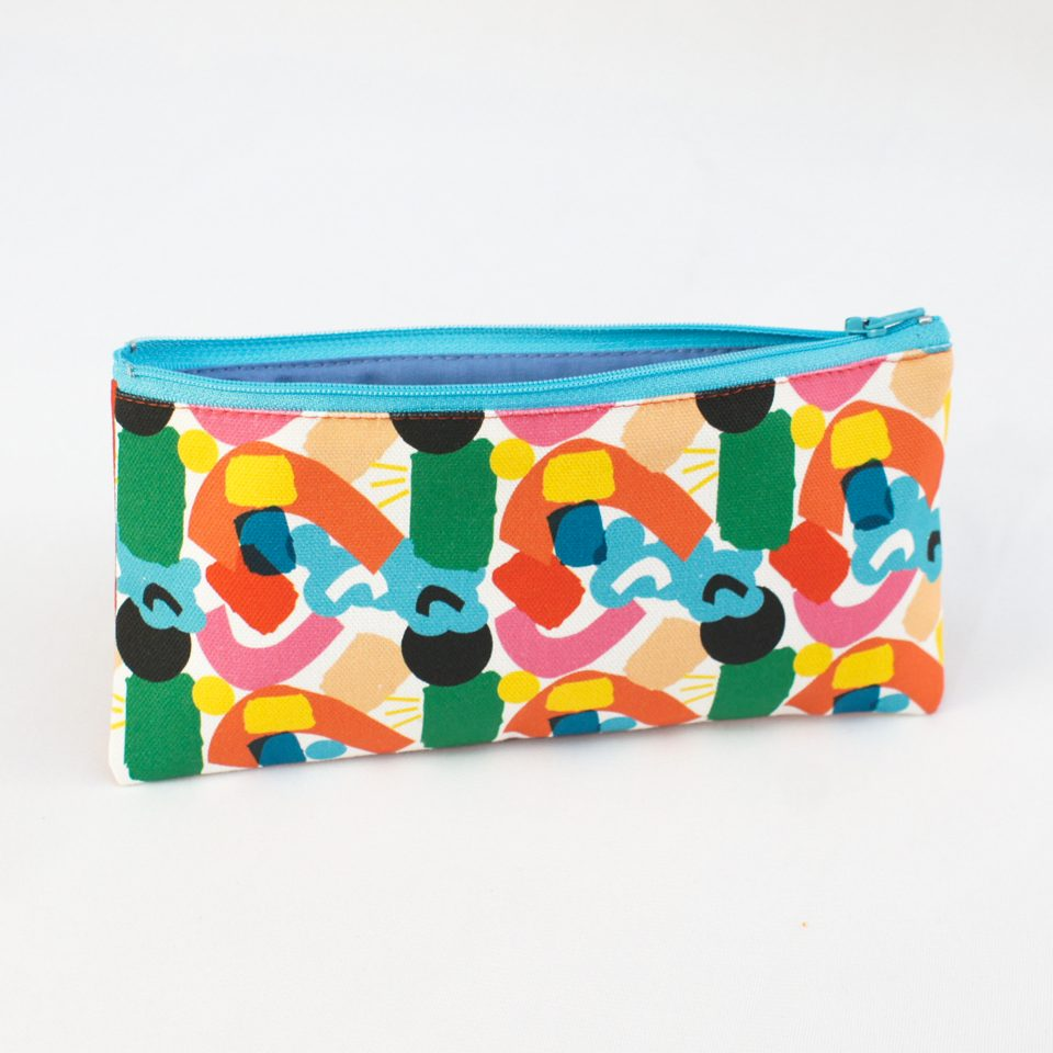 One Day at a time RUDE Design Pencil Case Open Side 2