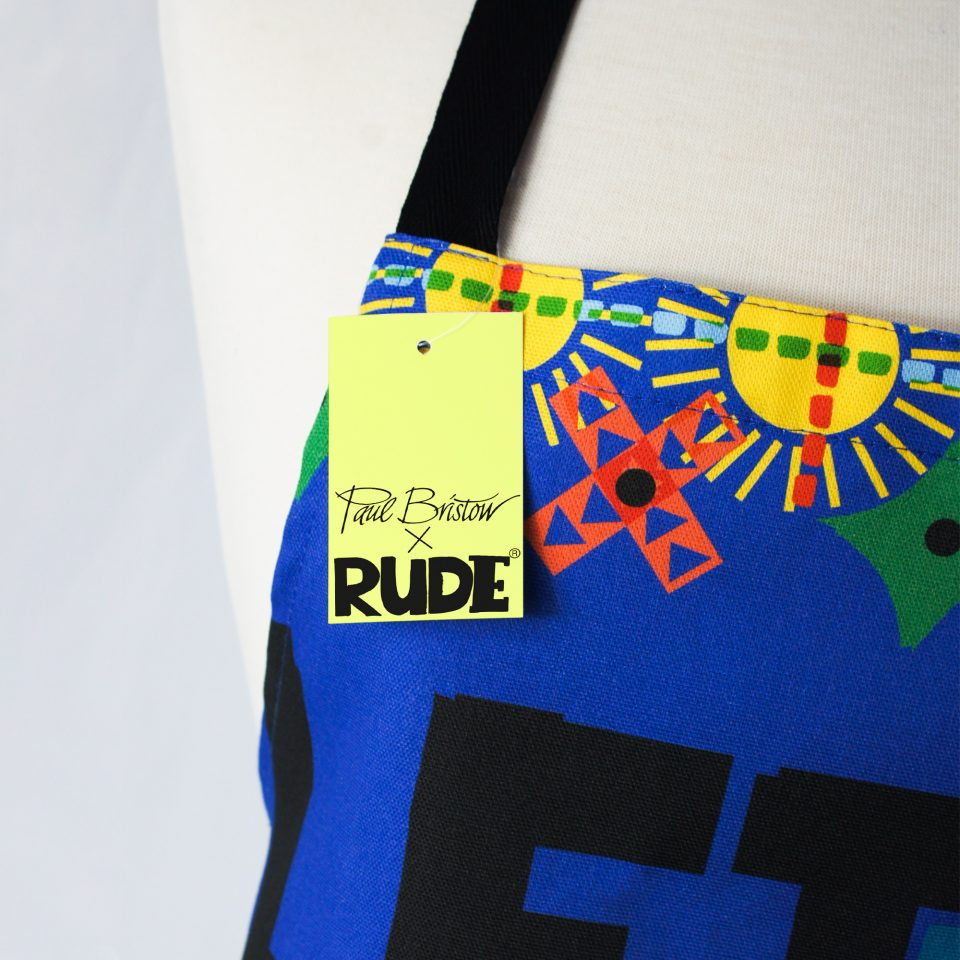 RUDE DESIGNS LET THE SUNSHINE APRON SWING TAG