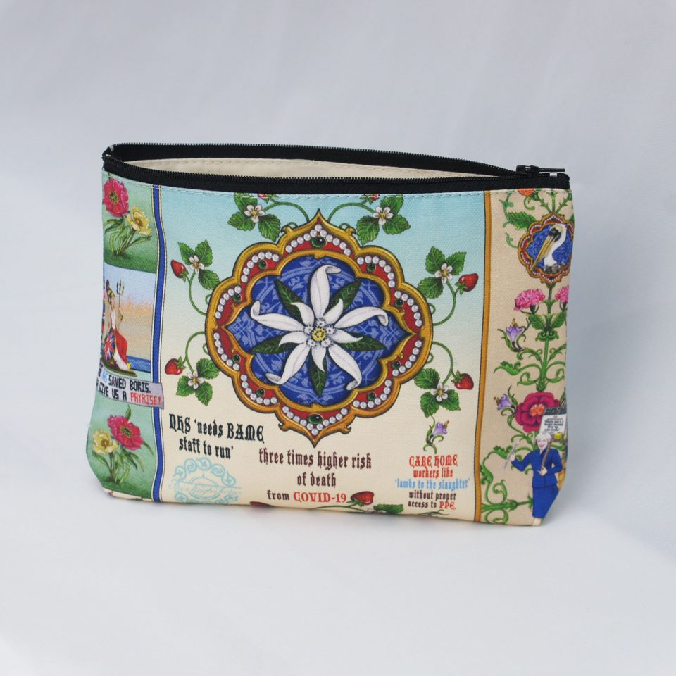Fighting on Two Fronts Back - Singh Twins Cosmetic Bag