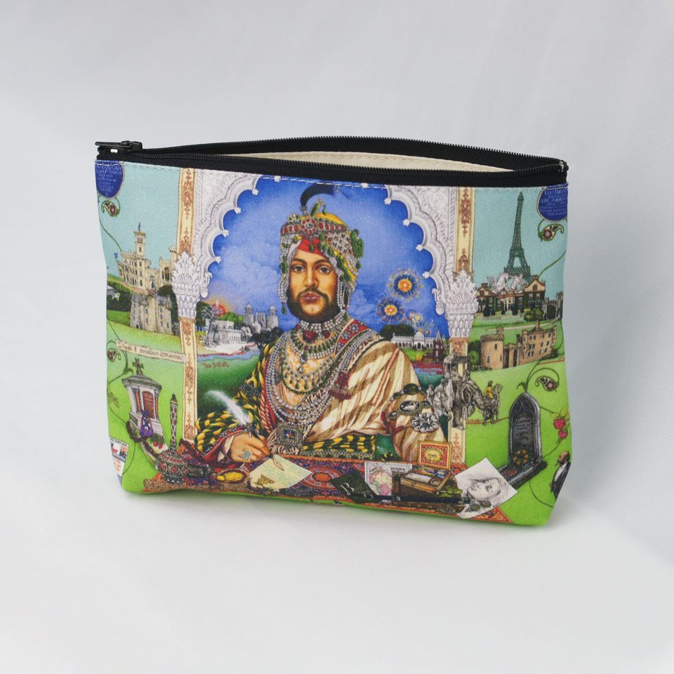Casualty of War: Portrait of Maharaja Duleep Singh Front - Singh Twins Cosmetic Bag